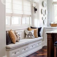 Window Seat Kitchen, Transitional, living room, Style at Home