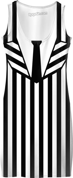 Beetlejuice suit like simple dress, black and white vertical stripes pattern, halloween style clothing, classic movie style design - item printed at www.rageon.com/a/users/casemiroarts - also available at www.casemiroarts.com  This product is hand made and made on-demand. Expect delivery to US in 11-20 business days (international 14-30 business days). #halloween #costume #sexy #horror #dress #style #clothing #striped