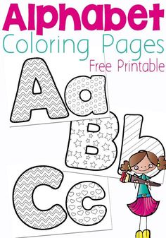 Free Printable Alphabet Coloring Pages | Printable alphabet, Easy ...