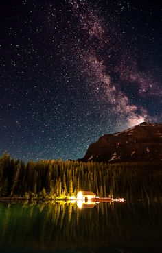 ~ photograph Milky Way, Lake Louise by flyingfishtw on 500px