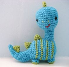 Amigurumi Dinosaur Crochet Pattern Digital Download by AmyGaines, $3.00