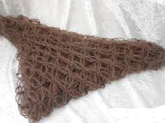 Eplabiter: Hand knitted chocolatebrown scarf SJOKOLADEBRUNE kjærlighetsknuter  http://epla.no/shops/ysdesign