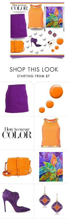 """""""Colours"""" by outfitsloveyou ❤ liked on Polyvore featuring Nancy Lopez, Topshop, Moschino, Jérôme Dreyfuss, Croton, Casadei, 1st & Gorgeous by Carolee and Janna Conner Designs"""