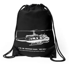 Huey Helicopter' Drawstring Bag by PrecisionHeli Backpack Bags, Drawstring Backpack, Tote Bag, Woven Fabric, Backpacks, Mugs, Classic, Prints, Mug