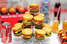 Make it all old school diner themed, like burgers, fries, milkshakes.