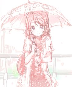 Just because it's raining, doesn't mean anime girlys aren't cute!