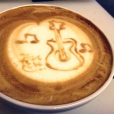 music Latte art
