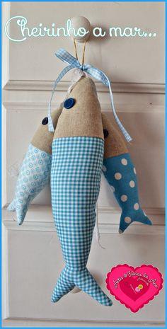Peixinhos em tecido
