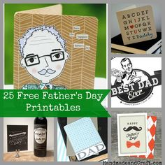 25 Father's Day Cards {Free Printables}