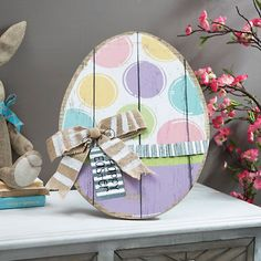 Pastel Polka Dot Easter Egg Easel | Kirklands