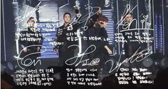 VIXX's signatures and messages. Daebak, they're pretty too ·o·