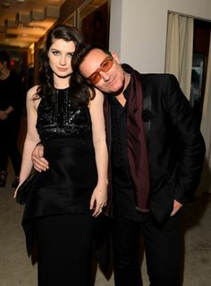Oscars 2013 Afterparty - Eve Hewson and dad Bono