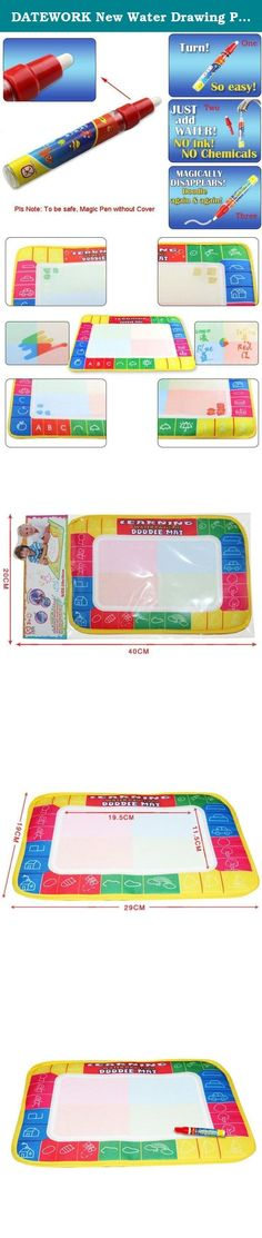 DATEWORK New Water Drawing Painting Writing Mat Board Magic Pen Doodle Toy Gift 29X19cm. Description : 100% brand new and high quality. Quantity: 1 Just Fill the Magic Pen With Water and Draw on the Magic Aquadraw Mat Kids are fascinated as the colorful images Spring Up, the slowly Fade Away Color: As Shown Package Content: 1X 29X19cm Water Drawing Painting Writing Mat Board 1X Magic Pen.