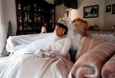 The newly wed Queen Karabo of Lesotho, February 2000