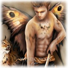 Lynx Warrior Fay Gorgeous Man Fairy Art 5x7 by mysticmoonmedia, $15.00