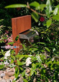Cortenstahlbrunnen Corten Wasserfall Wasserspiel.biz
