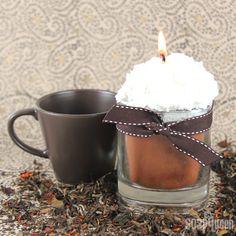 DIY Chai Tea Latte Candle