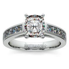 Cushion Princess Channel Diamond Engagement Ring in Platinum http://www.brilliance.com/engagement-rings/princess-channel-diamond-ring-platinum-3/4-ctw