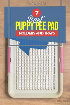A Nice Holder For Your Puppy Pee Pad Rubbermaid Tote Top