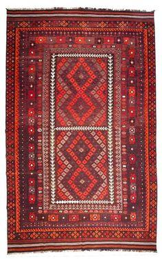 kilim - Kilim Afegão 413x259 cm.