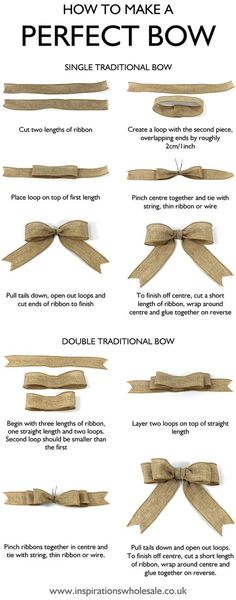 MASNI készítésének lépései How to make the perfect bow DIY tutorialMy life is a lie😭 and I thought people who did perfect bows were good at tying bows!How to make a Perfect Bow for gift wrapping, home décor and crafts ideas – both single tradi 242, Creation Deco, Gift Bows, Christmas Wrapping, Christmas Bows, How To Tie A Christmas Bow, Christmas Projects, Christmas Ribbon Crafts, Diy Christmas Gifts For Friends