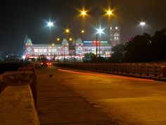 Chennai Central Station as seen from Stanley Viaduct.