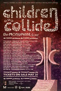 Children Collide tour - Details at http://www.bombshellzine.com/blog/2012/05/children-collide-announce-the-monument-tour/