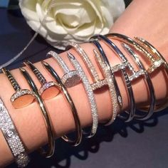 Coming soon‼️ Cartier collection‼️ More Cartier bracelets‼️ Nail Bracelets, Rhinestone Nail Bracelets, Classic nail bracelets, Classic Cartier Love Bracelet, and so much more‼️ Cartier Accessories