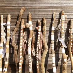 This hand painted driftwood stick is a great piece of decoration for your home. The sticks are rustic, with a touch of boho, beachy style. They can be displayed almost everywhere, a sets of several sticks or as individual pieces. Each driftwood stick has been handpicked on the