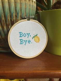 Boy Bye Beyonce Cross Stitch by SorceryStitches on Etsy
