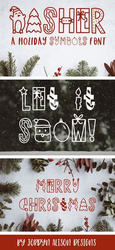 Dasher, A Christmas Holiday Symbols Font example image 11 Holiday Fonts, Christmas Fonts, Christmas Holidays, Christmas Crafts, Merry Christmas, Family Christmas, Christmas Trees, Christmas Design, Photo Desk Calendar