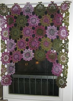 Crochet Curtain Patterns Part 9 - Beautiful Crochet Patterns and Knitting Patterns Beau Crochet, Love Crochet, Crochet Motif, Beautiful Crochet, Crochet Flowers, Knit Crochet, Crochet Patterns, Crochet Ideas, Ravelry Crochet