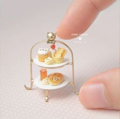 Miniature Crafts, Miniature Food, Tiny World, Clay Food, Clay Miniatures, Polymer Clay Charms, Decoden, Cute Toys, Clay Crafts