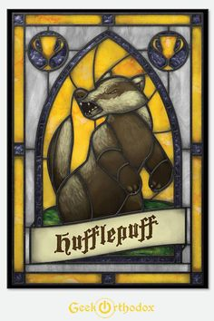 Harry Potter / Hogwarts: Hufflepuff  Stained Glass window