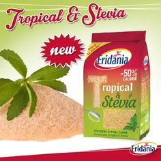 """Hai già provato il nuovo """"Tropical & Stevia""""? Un mix dal cuore leggero tra il gusto esotico del puro #zucchero di #canna e la leggerezza dell'estratto di foglie di #Stevia."""