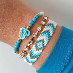 Handmade ibiza style/gypsy style bracelet or the by SambaHandmade