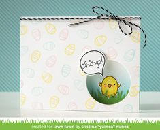 Lawn Fawn Video {3.10.16} Yainea's Chirpy Chirp Chirp Easter Chicks Window Card