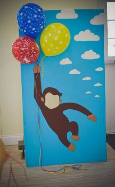 Curious George cut out by Parchment & Crepe.    #jessicahayes_art  Curious George themed birthday party.