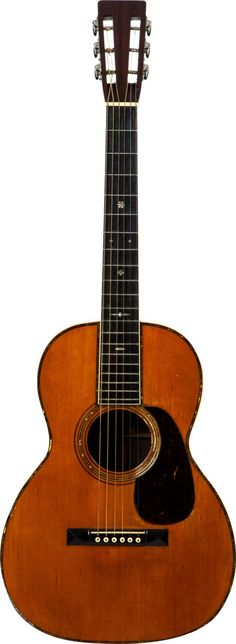 1929 Martin 00-42 Natural Acoustic Guitar, Serial # 39110. Incredibly rare guitar with beautiful Brazilian Rosewood back and sides.