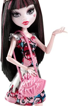 Amazon.com: Monster High Boo York, Boo York Frightseers Draculaura Doll: Toys & Games