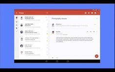 """Das neue """"Material Design"""" von Google wird auch auf die Gmail-App angewendet. (Screenshot: youtube.com)"""