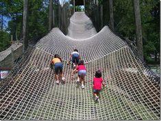 Climbing net at Idlewild Amusement Park