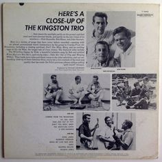 The Kingston Trio CloseUp LP Mono Vinyl Record by ThisVinylLife