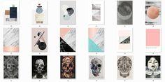 HVIKIS - ▪ Designer posters 6  50 swatches, black frame ▪...