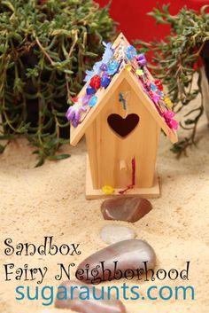 Sugar Aunts: Small World Fairy Neighborhood Sandbox Play