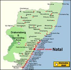 KwaZulu Natal Regional Map | HOLIDAY | Pinterest | Kwazulu natal