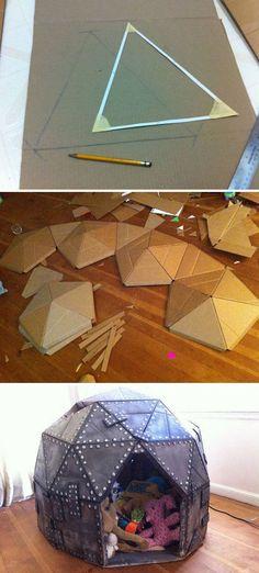 Cardboard Play Dome: