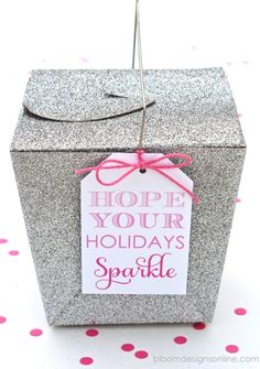 Hope your holidays sparkle free printable gift idea