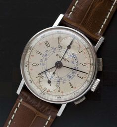 Buren Art Deco Chronograph circa 1940's - Used and Vintage Watches for Sale