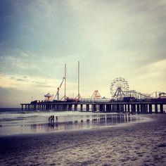 Atlantiic City Board Walk, Atlantic City, New Jersey — by Nica F!. Enjoying the boardwalk before sunset